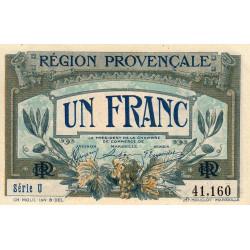 Région Provençale - Pirot 102-4 - 1 franc - Série U - Sans date - Etat : SPL