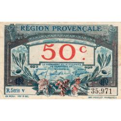 Région Provençale - Pirot 102-7 - 50 centimes - R Série V - Sans date - Etat : TB+