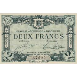 Angoulême - Pirot 9-12 - 2 francs - 2ème série - 15/01/1915 - Etat : TTB-