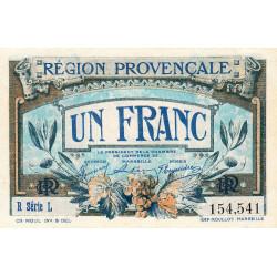 Région Provençale - Pirot 102-8 - 1 franc - R Série L - Sans date - Etat : SPL