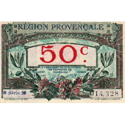 Région Provençale - Pirot 102-9-R 30 - 50 centimes - Etat : SUP