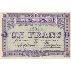 Cahors (Lot) - Pirot 35-11-B - 1 franc - 1915 - Etat : SPL