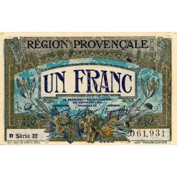 Région Provençale - Pirot 102-12 - 1 franc - R Série 32 - Sans date - Etat : SPL