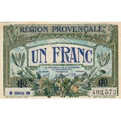 Région Provençale - Pirot 102-18 - 1 franc - R Série 29 - Sans date - Etat : SUP