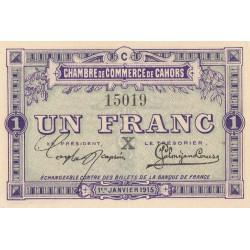 Cahors (Lot) - Pirot 35-11-C - 1 franc - 1915 - Etat : SPL+