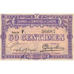 Cahors (Lot) - Pirot 35-12 - 50 centimes - Série F. - 01/01/1915 - Etat : TTB+