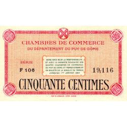 Puy-de-Dôme - Pirot 103-1 - 50 centimes - Série F 103 - Sans date - Etat : SPL