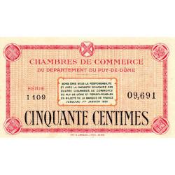 Puy-de-Dôme - Pirot 103-1 - 50 centimes - Série I 109 - Sans date - Etat : NEUF