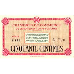 Puy-de-Dôme - Pirot 103-1 - 50 centimes - Série Z 125 - Sans date - Etat : SUP+