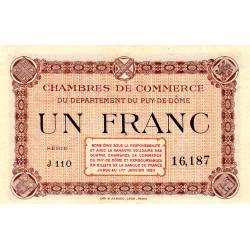 Puy-de-Dôme - Pirot 103-6-J110 - 1 franc - Etat : NEUF