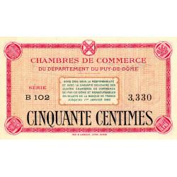 Puy-de-Dôme - Pirot 103-12 - 50 centimes - Série B 102 - Sans date - Etat : pr.NEUF