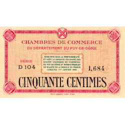Puy-de-Dôme - Pirot 103-12 - 50 centimes - Série D 104 - Sans date - Etat : NEUF