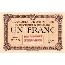 Puy-de-Dôme - Pirot 103-16 - 1 franc - Série F 106 - Sans date - Etat : pr.NEUF