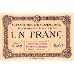 Puy-de-Dôme - Pirot 103-16 - 1 franc - Série G 107 - Sans date - Etat : NEUF