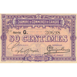 Cahors (Lot) - Pirot 35-12 - 50 centimes - Série G. - 01/01/1915 - Etat : TTB+