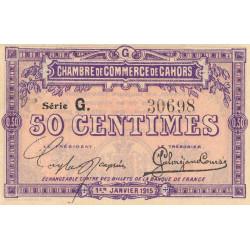 Cahors (Lot) - Pirot 35-12-G - 50 centimes - 1915 - Etat : TTB+