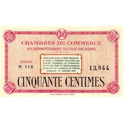 Puy-de-Dôme - Pirot 103-18 - 50 centimes - Série R 118 - Sans date - Etat : NEUF