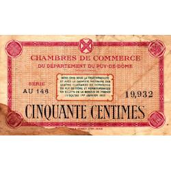 Puy-de-Dôme - Pirot 103-19 - 50 centimes - Série AU 146 - Sans date - Etat : B