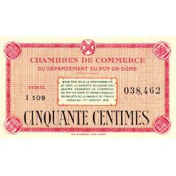 Puy-de-Dôme - Pirot 103-22 - 50 centimes - Série I 109 - Sans date - Etat : SUP+