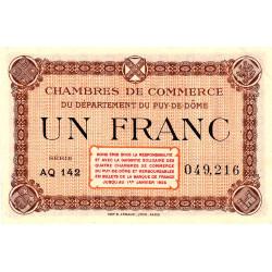 Puy-de-Dôme - Pirot 103-22-AQ142 - 1 franc - Etat : SUP
