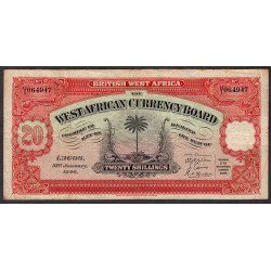 Afrique Occid. Britannique - Pick 8b - 20 shillings - 31/01/1946 - Etat : TB+