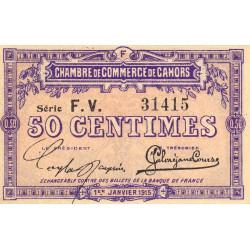 Cahors (Lot) - Pirot 35-16 - Série FV - 50 centimes - 1915 - Etat : NEUF