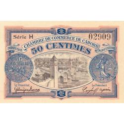 Cahors (Lot) - Pirot 35-17 - 50 centimes - Série H - 21/04/1917 - Etat : SPL+