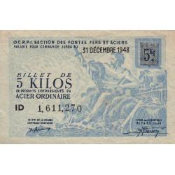 5 kg acier ordinaire - 31-12-1948 - Endossé - Etat : TTB
