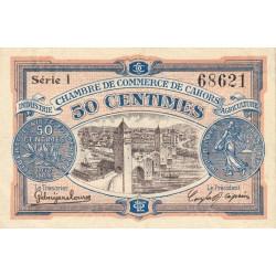 Cahors (Lot) - Pirot 35-17 - 50 centimes - Série I - 21/04/1917 - Etat : SUP+