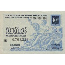 10 kg acier ordinaire - 31-12-1948 - Endossé - Etat : SPL