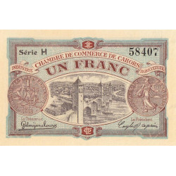 Cahors (Lot) - Pirot 35-19 - 1 franc - Série H - 21/04/1917 - Etat : SPL+