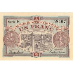 Cahors (Lot) - Pirot 35-19 - Série H - 1 franc - 1917 - Etat : SPL+