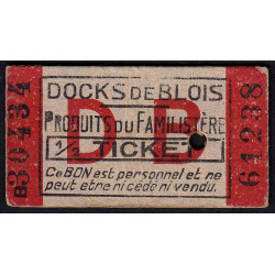 41 - Blois - Docks de Blois - 1/2 ticket - Etat : SUP