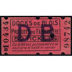 41 - Blois - Docks de Blois - 50 tickets - Etat : SPL