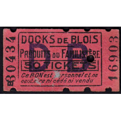 41 - Blois - Docks de Blois - 50 tickets - Etat : TTB