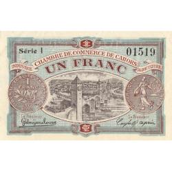 Cahors (Lot) - Pirot 35-19 - 1 franc - Série I - 21/04/1917 - Etat : SUP+