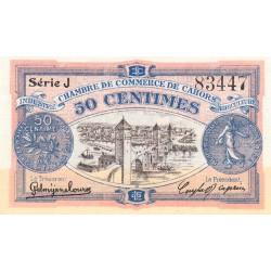Cahors (Lot) - Pirot 35-21-J - 50 centimes - 1918 - Etat : NEUF