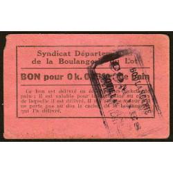 46 - Souillac - Boulangerie Combes - Bon pour 0k,025 de pain - Etat : TB+