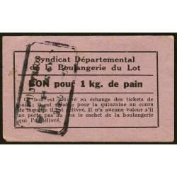 46 - Souillac - Boulangerie Combes - Bon pour 1 kg. de pain - Etat : SUP