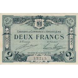Angoulême - Pirot 9-12 - 2 francs - 1915 - Etat : SUP