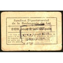46 - Souillac - Boulangerie Combes - Bon pour 2 kg. de pain - Etat : TB