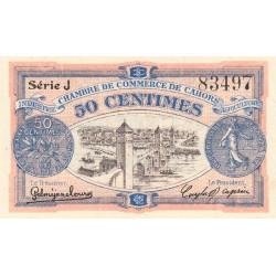 Cahors (Lot) - Pirot 35-21 - 50 centimes - Série J - 07/11/1918 - Etat : SUP