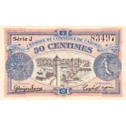 Cahors (Lot) - Pirot 35-21 - Série J - 50 centimes - 1918 - Etat : SUP