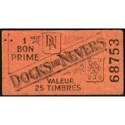 58 - Nevers - Docks de Nevers - Valeur 25 timbres - Type 3 - Etat : TTB