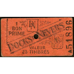58 - Nevers - Docks de Nevers - Valeur 25 timbres - Type 4 - Etat : TTB