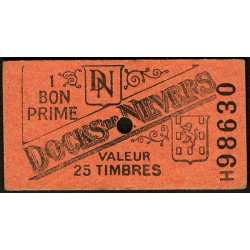 58 - Nevers - Docks de Nevers - Valeur 25 timbres - Type 4 - Etat : TTB