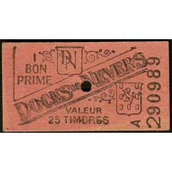 58 - Nevers - Docks de Nevers - Valeur 25 timbres - Type 5 - Etat : SUP