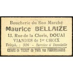 59 - Douai - Boucherie du Bon Marché - Bon 1 km Chemin de Fer - Etat : SPL