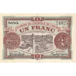 Cahors (Lot) - Pirot 35-24-L - 1 franc - 1919 - Etat : TTB
