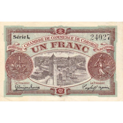 Cahors (Lot) - Pirot 35-24-L - 1 franc - Etat : TTB